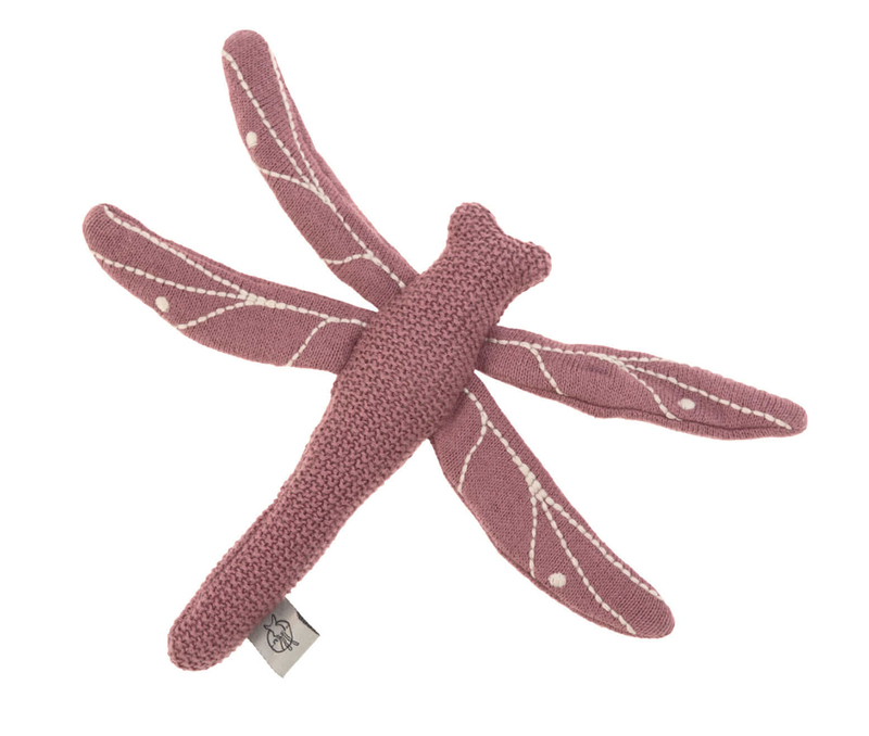 Hračka Lassig Knitted RC dragonfly red