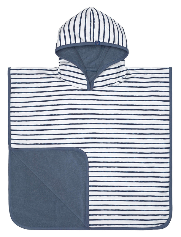 Beach poncho Lassig boys stripes navy