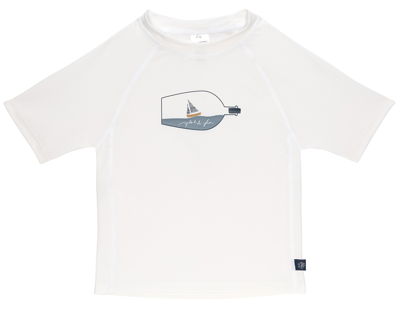 Triko Lässig Rashguard Short ship white