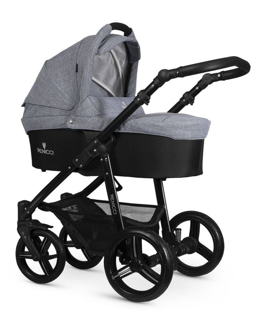 Kočárek Venicci Soft Med grey (black)